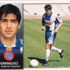Cromos de Fútbol: ESTE 98-99 *DOMINGUEZ* COLOCA DEL ESPAÑOL (VENTANILLA LATERAL)(A-4). Lote 295383418