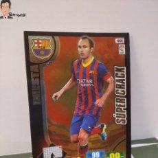 Cromos de Fútbol: INIESTA Nº 444 SUPER CRACK (F C BARCELONA) ADRENALYN XL 2013 2014 13 14 PANINI LIGA CROMO BARÇA. Lote 295384763