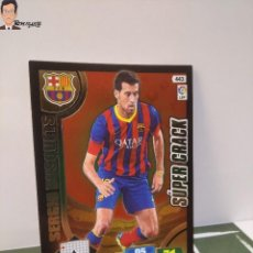 Cromos de Fútbol: SERGIO BUSQUETS Nº 443 SUPER CRACK (BARCELONA) ADRENALYN XL 2013 2014 13 14 PANINI CROMO LIGA ALBUM. Lote 295384778