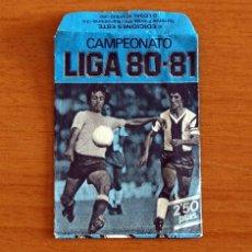 Cromos de Fútbol: SOBRE VACIO, SIN CROMOS - COLOR AZUL - CAMPEONATO LIGA 1980-1981, 80-81 - EDICIONES ESTE. Lote 295430928