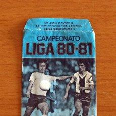 Cromos de Fútbol: SOBRE VACIO, SIN CROMOS - COLOR AZUL - CAMPEONATO LIGA 1980-1981, 80-81 - EDICIONES ESTE. Lote 295431863
