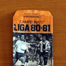 Cromos de Fútbol: SOBRE VACIO, SIN CROMOS - COLOR NARANJA - CAMPEONATO LIGA 1980-1981, 80-81 - EDICIONES ESTE. Lote 295432043