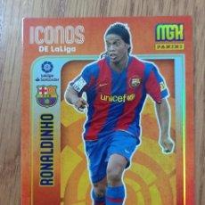 Cromos de Fútbol: RONALDINHO - BARCELONA ICONOS - ROOKIE - MEGACRACKS - LIGA ESTE 2021 2022 21/22 ADN. Lote 295549378