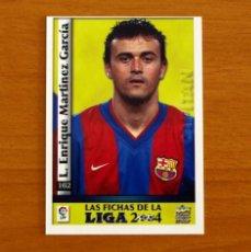 Cromos de Fútbol: BARCELONA - Nº 162, LUIS ENRIQUE - CAPITÁN - LAS FICHAS DE LA LIGA MUNDICROMO 2003-2004, 03-04. Lote 295623658