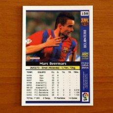 Cromos de Fútbol: BARCELONA - Nº 158, OVERMARS - LAS FICHAS DE LA LIGA MUNDICROMO 2003-2004, 03-04. Lote 295623838