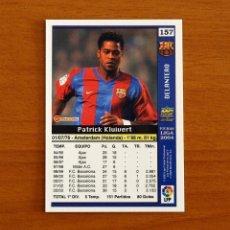 Cromos de Fútbol: BARCELONA - Nº 157, KLUIVERT - LAS FICHAS DE LA LIGA MUNDICROMO 2003-2004, 03-04. Lote 295624033