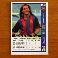 Cromos de Fútbol: BARCELONA - Nº 154, RONALDINHO - ROOKIE - LAS FICHAS DE LA LIGA MUNDICROMO 2003-2004, 03-04. Lote 295624793