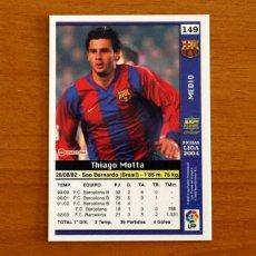 Cromos de Fútbol: BARCELONA - Nº 149, MOTTA - LAS FICHAS DE LA LIGA MUNDICROMO 2003-2004, 03-04. Lote 295626183