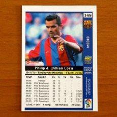 Cromos de Fútbol: BARCELONA - Nº 148, COCU - LAS FICHAS DE LA LIGA MUNDICROMO 2003-2004, 03-04. Lote 295626338