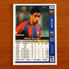 Cromos de Fútbol: BARCELONA - Nº 147, REIZIGER - LAS FICHAS DE LA LIGA MUNDICROMO 2003-2004, 03-04. Lote 295626518