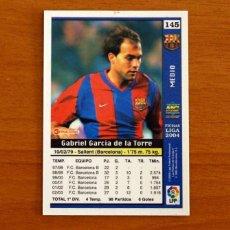 Cromos de Fútbol: BARCELONA - Nº 145, GABRI - LAS FICHAS DE LA LIGA MUNDICROMO 2003-2004, 03-04. Lote 295626978