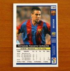 Cromos de Fútbol: BARCELONA - Nº 144, NAVARRO - LAS FICHAS DE LA LIGA MUNDICROMO 2003-2004, 03-04. Lote 295627128
