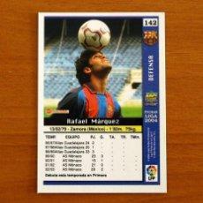 Cromos de Fútbol: BARCELONA - Nº 142, MÁRQUEZ - ROOKIE - LAS FICHAS DE LA LIGA MUNDICROMO 2003-2004, 03-04. Lote 295627963