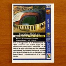 Cromos de Fútbol: BARCELONA - Nº 137, CAMP NOU - LAS FICHAS DE LA LIGA MUNDICROMO 2003-2004, 03-04. Lote 295629153