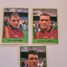 Cromos de Fútbol: MUNDIAL USA 1994 BOLLYCA SELECCION ESPAÑOLA AMOR EUSEBIO Y FERRER. Lote 295991598