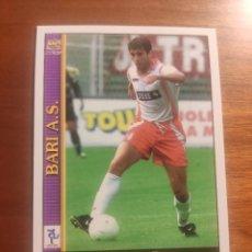Cromos de Fútbol: 29 LE SCHEDE DEL CALCIO 2001 - GAETANO DE ROSA - BARI -- MUNDICROMO MC ITALIA FICHAS. Lote 296627933