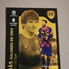 Cromos de Fútbol: MESSI MÁS BALONES DE ORO NUM 9 BAJA DEL FC BARCELONA LIGA ESTE TEMPORADA 2021 / 2022 21 22. Lote 296628848