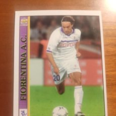 Cromos de Fútbol: 116 LE SCHEDE DEL CALCIO 2001 - ENRICO CHIESA - FIORENTINA -- MUNDICROMO MC ITALIA FICHAS. Lote 296628893