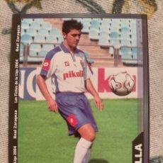 Cromos de Fútbol: CROMO FICHA CARD CORREGIDO 499 DAVID VILLA REAL ZARAGOZA LAS FICHAS DE LA LIGA MUNDICROMO. Lote 297040048