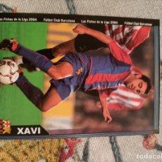 Cromos de Fútbol: CROMO FICHA CARD XAVI 150 FUTBOL CLUB BARCELONA LAS FICHAS DE LA LIGA MUNDICROMO. Lote 297040323