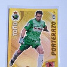 Cromos de Fútbol: TOÑO PORTERAZO #382 REAL RACING SANTANDER - ADRENALYN XL LA LIGA BBVA 2011 2012 - PANINI 11 12. Lote 297374003