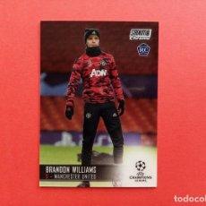 Cromos de Fútbol: 59 ROOKIE CARD BRANDON WILLIAMS MANCHESTER UNITED TOPPS STADIUM CLUB CHROME CHAMPIONS LEAGUE 2020 21. Lote 297387048