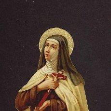 Coleccionismo Cromos troquelados antiguos: ANTIGUO CROMO TROQUELADO: SANTA TERESA DE JESUS (AVILA). Lote 13988987