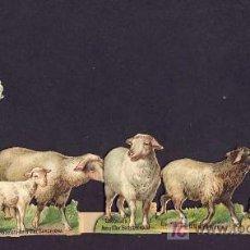 Coleccionismo Cromos troquelados antiguos: CONJUNTO DE CROMOS TROQUELADOS Y DESPLEGABLES: NIÑA CON OVEJAS (VER FOTO ADICIONAL). Lote 7090556