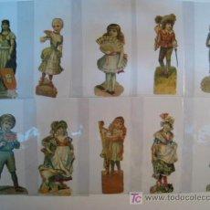 Coleccionismo Cromos troquelados antiguos: LOTE 10 CROMO TROQUELADO (PICAR) ANTIGUO (12X5 CM). Lote 9329889