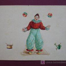 Coleccionismo Cromos troquelados antiguos: HOJA CON CROMOS TROQUELADOS. CIRCO. CLOWN. PAYASO.. Lote 11839365
