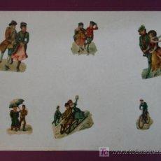 Coleccionismo Cromos troquelados antiguos: HOJA CON CROMOS TROQUELADOS. VARIOS.. Lote 11839485