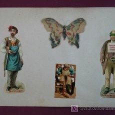 Coleccionismo Cromos troquelados antiguos: HOJA CON CROMOS TROQUELADOS. VARIOS. OFICIOS.. Lote 11839548