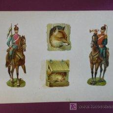 Coleccionismo Cromos troquelados antiguos: HOJA CON CROMOS TROQUELADOS. VARIOS.. Lote 11839578
