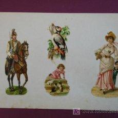 Coleccionismo Cromos troquelados antiguos: HOJA CON CROMOS TROQUELADOS. VARIOS.. Lote 11839587