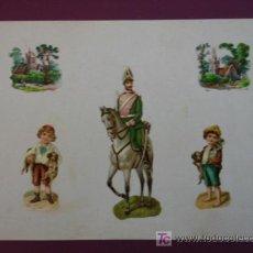 Coleccionismo Cromos troquelados antiguos: HOJA CON CROMOS TROQUELADOS. VARIOS.. Lote 11839618