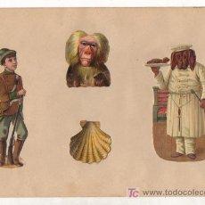 Coleccionismo Cromos troquelados antiguos: HOJA CON CROMOS TROQUELADOS. VARIOS.. Lote 11854533