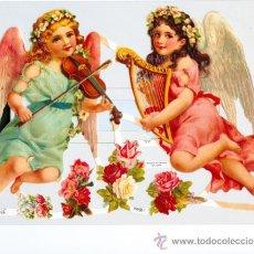 Coleccionismo Cromos troquelados antiguos: GRAN CROMO TROQUELADO ANGELES. Lote 23135987