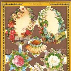 Coleccionismo Cromos troquelados antiguos: CROMOS TROQUELADOS REPRODUCED FROM LOS ARCHIVOS COLECCIÓN MAMELOK PRESS LTD 2000 A162. ABANICOS. Lote 103947858