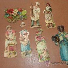 Coleccionismo Cromos troquelados antiguos: LOTE DE 7 CROMOS TROQUELADOS. ANTIGUOS.. Lote 25470335
