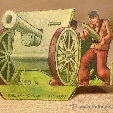 Coleccionismo Cromos troquelados antiguos: CROMO TROQUELADO, CAÑON, ARTILLERIA, EJERCITO POPULAR, GUERRA CIVIL ESPAÑOLA. Lote 22371338