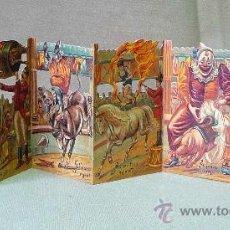 Coleccionismo Cromos troquelados antiguos: CROMO TRQUELADO, LIBRILLO DE 6 CROMOS TROQUELADOS DESPLEGABLE, EL CIRCO, 1984 MERRIMACK,. Lote 27157690
