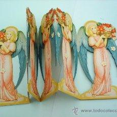 Coleccionismo Cromos troquelados antiguos: TROQUELADO EN CARTON , - DESPLEGABLE Y REVERSIBLE DE 9 ANGELES, AÑOS 60-70 ,CON SU SOBRE ORIGINAL. Lote 26787555