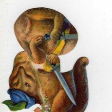 Coleccionismo Cromos troquelados antiguos: CROMO TROQUELADO - ZORRA CROMO N.21 - CHOCOLATES EVARISTO JUNCOSA, BARCELONA, CROMO PARA ESTRENAR. Lote 24425275