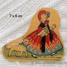 Coleccionismo Cromos troquelados antiguos: CROMO ANTIGUO MARY Y SU CORDERITO. Lote 27372971
