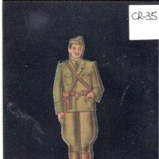 Coleccionismo Cromos troquelados antiguos: CROMO TROQUELADO GUERRA CIVIL ALMACENES ALEMANES - TENIENTE -EJERCITO NACIONAL - ( CR-35). Lote 28161772