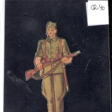 Coleccionismo Cromos troquelados antiguos: CROMO TROQUELADO GUERRA CIVIL ALMACENES ALEMANES - LEGIONARIO -EJERCITO NACIONAL - ( CR-40). Lote 28161845