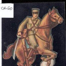 Coleccionismo Cromos troquelados antiguos: CROMO TROQUELADO GUERRA CIVIL ALMACENES ALEMANES - SOLDADO CABALLERIA -EJERCITO POPULAR - ( CR-60). Lote 28162185