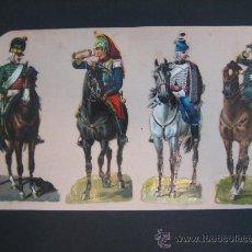 Coleccionismo Cromos troquelados antiguos: CROMOS TROQUELADOS ANTIGUOS. SOLDADOS CABALLERÍA. Lote 30074832
