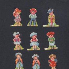 Coleccionismo Cromos troquelados antiguos: LOTE DE 9 CROMOS TROQUELADOS-NIÑOS Y NIÑAS. Lote 30107752