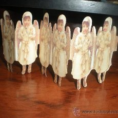 Coleccionismo Cromos troquelados antiguos: 6 ANGELES TROQUELADOS 18 X 7 CM. Lote 30419526